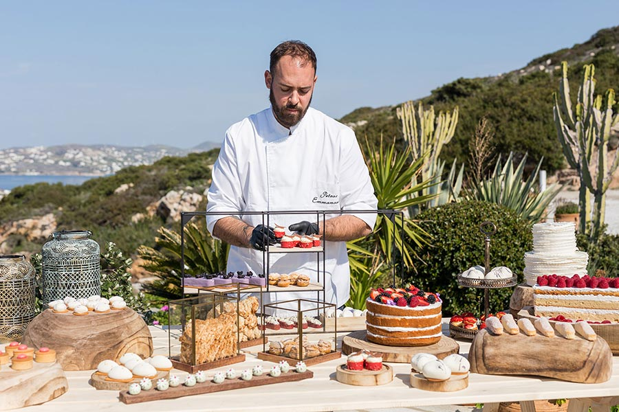 coffee and patisserie tserki paros live presentation