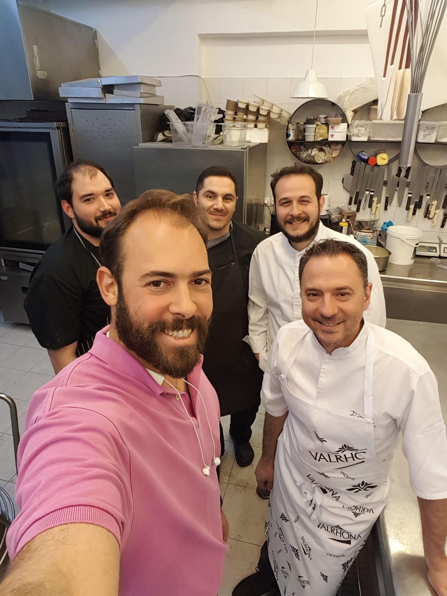 coffee and patisserie tserki paros team